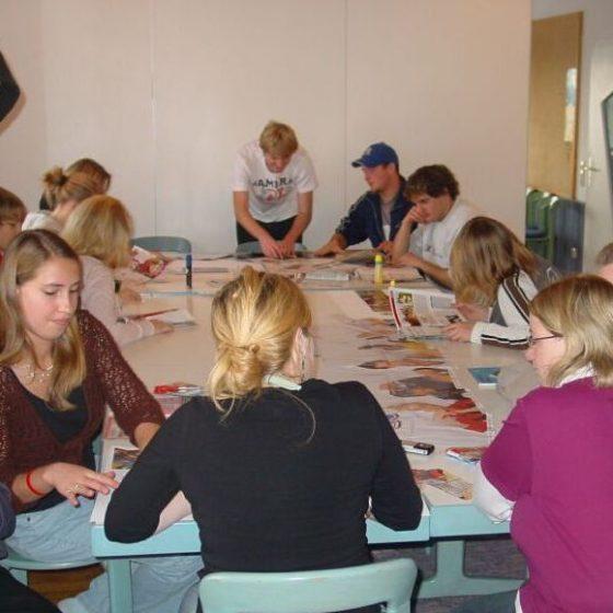 Gruppenarbeit Tisch