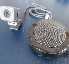 Webcam und Mikrofon/Lautsprecher - Neu im Verleih